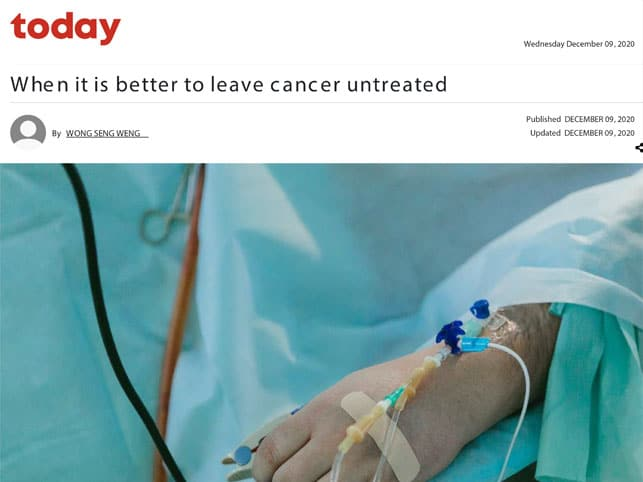 When it is better to leave cancer untreated
